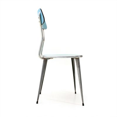 Formica u0026 Metal Dining Chair 1950s ...  sc 1 st  Pamono & Formica u0026 Metal Dining Chair 1950s Set of 4 for sale at Pamono