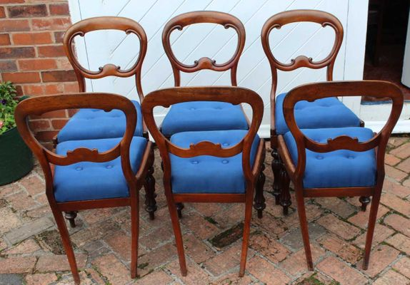 18d8d7714e58 Antique Mahogany Balloon Back Dining Chairs