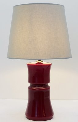 Vintage Dark Red Murano Glass Table Lamp For Sale At Pamono
