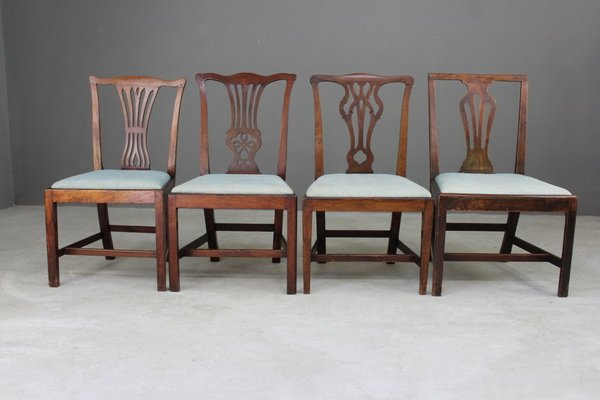 Antique Chippendale Style Dining Chairs, Set of 4 2 - Antique Chippendale Style Dining Chairs, Set Of 4 For Sale At Pamono