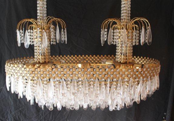 Lampadario vintage in vetro di Murano e cristalli Swarovski, anni \u002780,  Immagine 3
