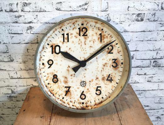 Orologio da parete grande industriale di Chronotechna, anni \u002750, Immagine 1