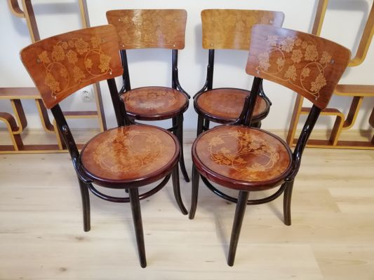 Antique Bentwood Chairs from J & J Kohn, ... - Antique Bentwood Chairs From J & J Kohn, Set Of 4 For Sale At Pamono