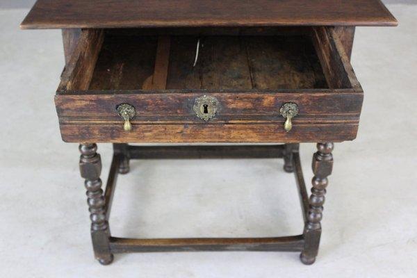 antique rustic oak side table 2 - Antique Side Tables