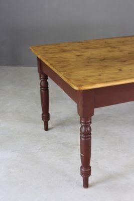 Tavolo da cucina vittoriano in legno di pino