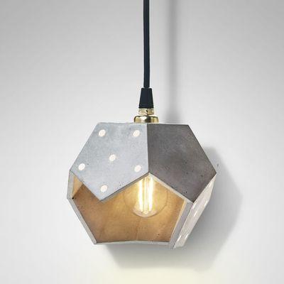 Basic TWELVE Trio Concrete Pendant Lamp From Plato Design