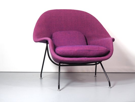 Womb Armchair And Footstool Set By Eero Saarinen For Knoll International,  1960s 2