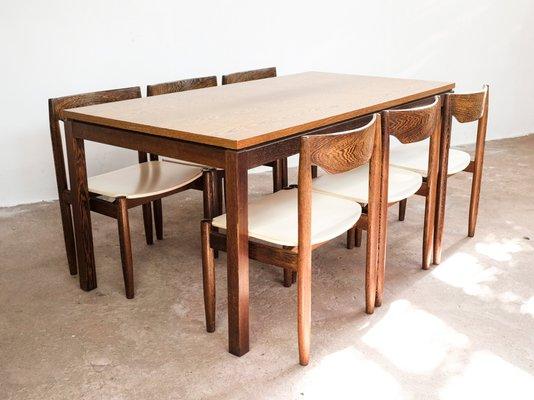 Juego de mesa de comedor de wengué, años 60 en venta en Pamono