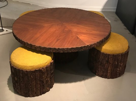 Low Circular Table Stools 1960s For Sale At Pamono