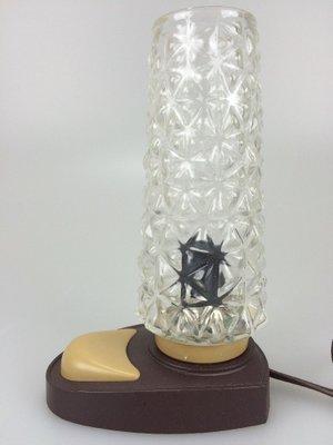 Gut bekannt Deutsche Vintage Nachttischlampe aus Kunststoff & Glas, 1960er bei JK77