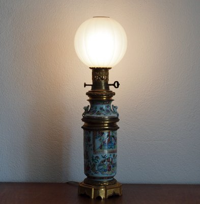 Antique Hand Painted Porcelain Table Lamp