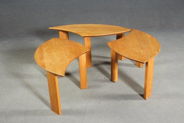 en en Pièces 3 Table ChêneDanemark1960s Basse yfmbgI7vY6