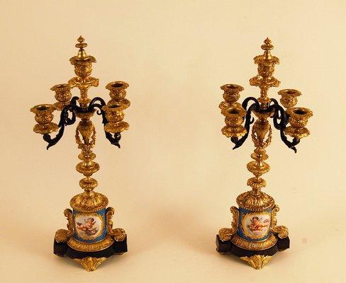 Antike Kronleuchter Kaufen ~ Antike kronleuchter aus bronze porzellan er set bei pamono kaufen