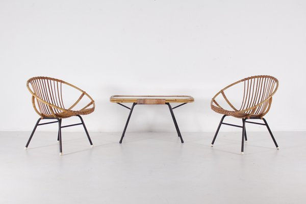 Mid Century Coffee Table 2 Chairs From Rohé Noordwolde