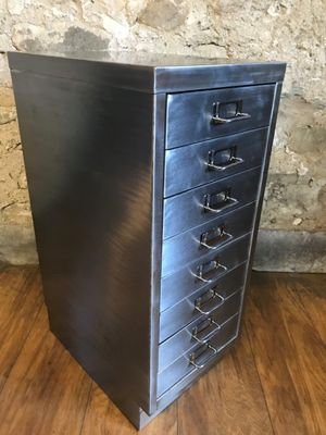meuble darchivage vintage industriel avec 8 tiroirs en mtal 2