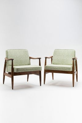 Bon Type 300 203 GFM 87 Lounge Chairs By Juliusz Kędziorek For Gościcińskie  Fabryki Mebli