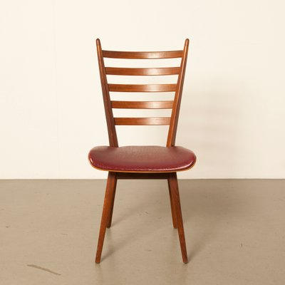 Red Dining Chairs 1960s Set Of 4 For Sale At Pamono