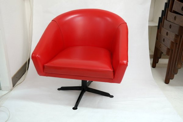 Red Armchairs 1960s Set Of 2 For Sale At Pamono