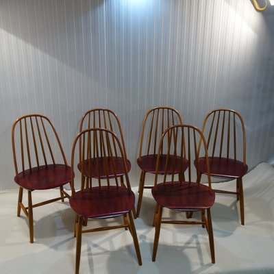Swedish Chairs By Haga Fors 1950s Set Of 6 For Sale At Pamono