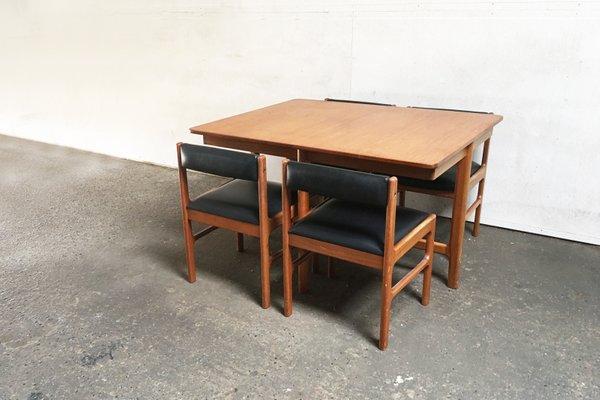 Table Extensible Chaises De Salle A Manger De Mcintosh 1970s En