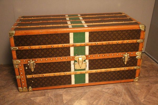 24a6cc73f0e1 Vintage Canvas   Brass Steamer Trunk from Louis Vuitton for sale at ...