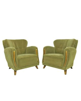 Mid Century Club Chairs Set Of 2 1