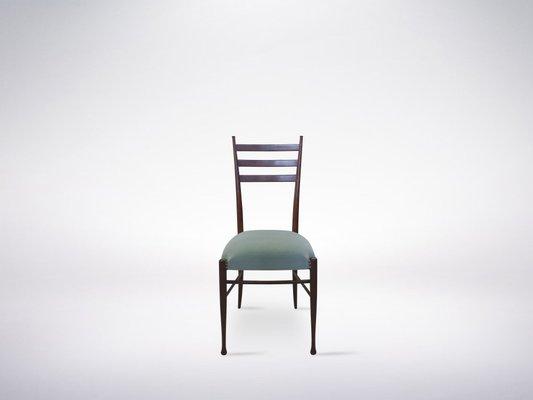 Sedute Per Sedie Di Legno.Sedie In Legno Con Sedute Di Velluto Blu Di Guglielmo Ulrich Italia