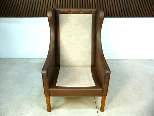 Awesome Leather Wingback 2204 Chair 2202 Ottoman By Borge Mogensen For Fredericia 1960S Pdpeps Interior Chair Design Pdpepsorg