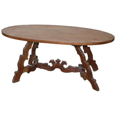 Antique Oval Walnut Table For Sale At Pamono