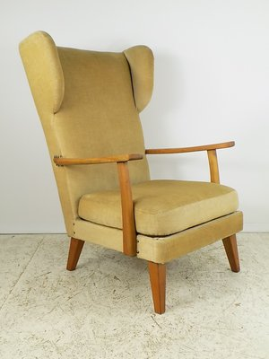 Walter Knoll Design Fauteuil.Cherry Wingback Lounge Chair By Walter Knoll For Knoll Antimott