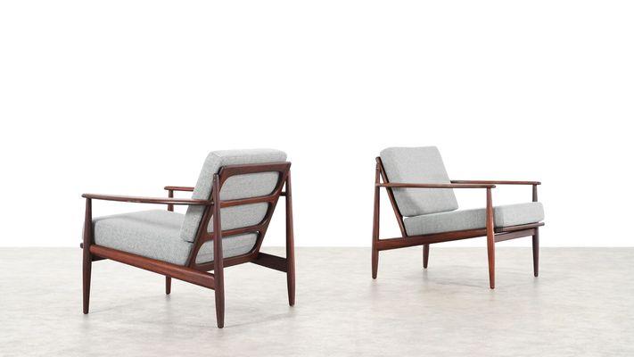 Mid Century Modern Danish Teak Lounge Chairs, 1960s, Set Of 2 3