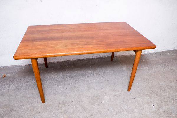 Solid Teak Dining Table From Glostrup S For Sale At Pamono - Solid teak dining table for sale