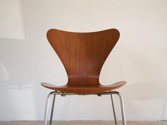 3107 Serie 7 Stuhl Aus Teak Von Arne Jacobsen Für Fritz Hansen 1966