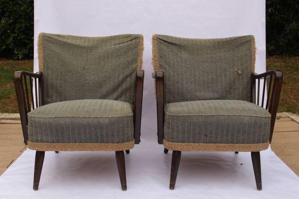 Merveilleux Vintage Armchairs, 1950s, Set Of 2 1