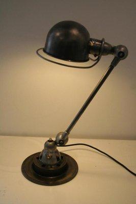 Lampe Industrielle Vintage en Graphite par Jean Louis Domecq