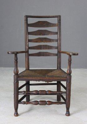 Antique Oak U0026 Elm Ladderback Chair 1