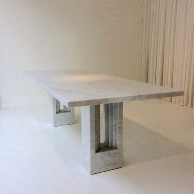 Tavolo Delfi in marmo di Carlo Scarpa & Marcel Breuer, anni \'70 in ...