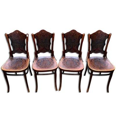 Antike Stuhle Sessel Aus Bugholz Von Jacob Josef Kohn Bei Pamono