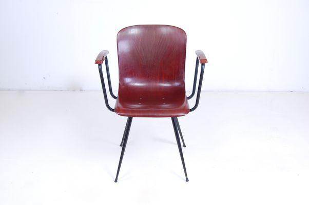 Sedie da ufficio piccole di pagholz flötotto anni 60 set di 2 in