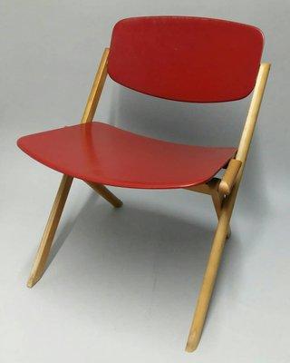 Chaise Basse Pliante Par Jean Claude Duboys 1980s 1
