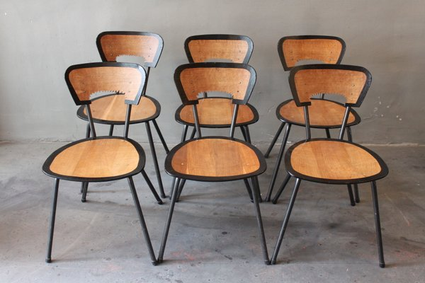 Black is Beautiful Dining Chairs by Jaques Hitier & Markus Staab for  Atelier Staab, Set of 6