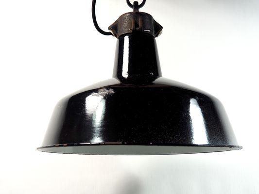 Lampada Vintage Industriale : Lampada vintage industriale smaltata in vendita su pamono