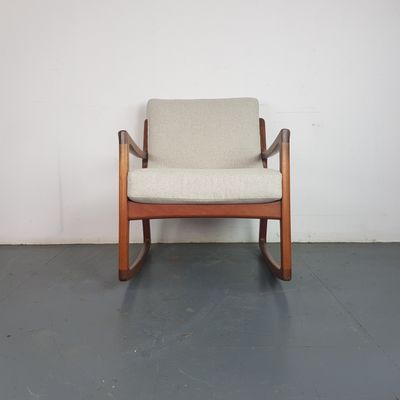 Mid Century Teak Rocking Chair By Ole Wanscher For France Søn 2