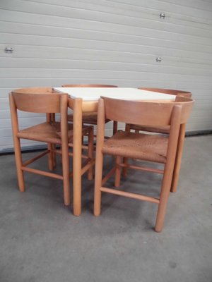 Vintage Dining Set By Mogens Lassen For Fritz Hansen, 1963, Table And 4  Chairs