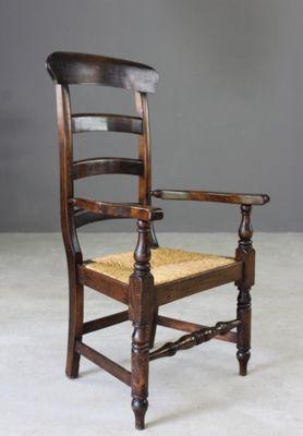 Antique Rush Ladderback Chair 2