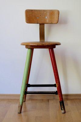 taburete de taller vintage, años 50 en venta en pamono