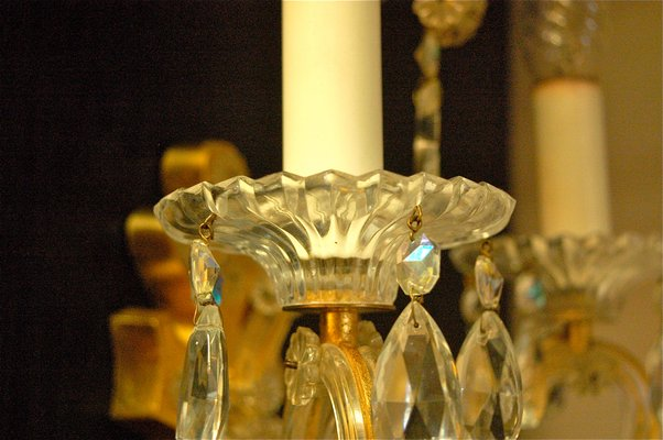 Applique da parete in cristallo di palme walter anni set