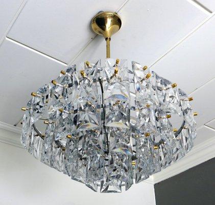 Crystal Glass Prism Chandelier from Kinkeldey, 1960s