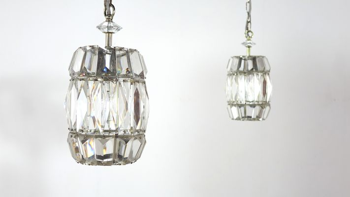 Vintage Crystal Gl Pendant Lamps By Bakalowits Söhne