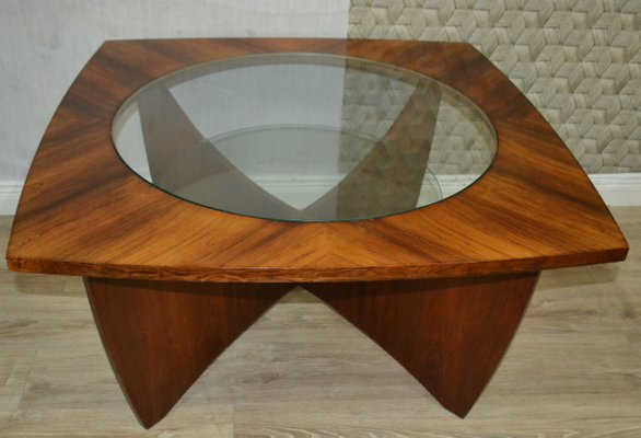 Glass Solid Wood Coffee Table 1960s For Sale At Pamono